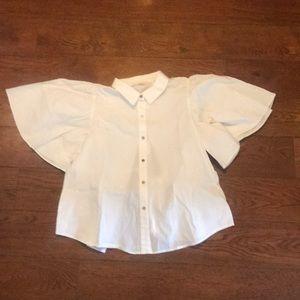 vintage white blouse open back